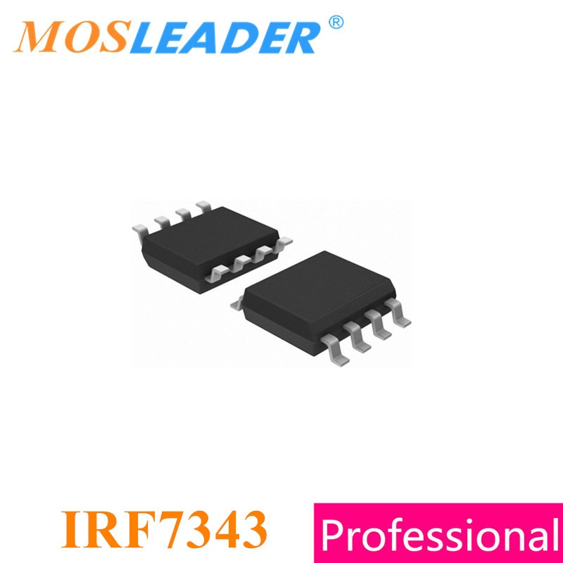 Mosleader IRF7343 SOP8 100 Uds 1000 Uds IRF7343PBF IRF7343TRPBF IRF7343TR hecho en China de alta calidad