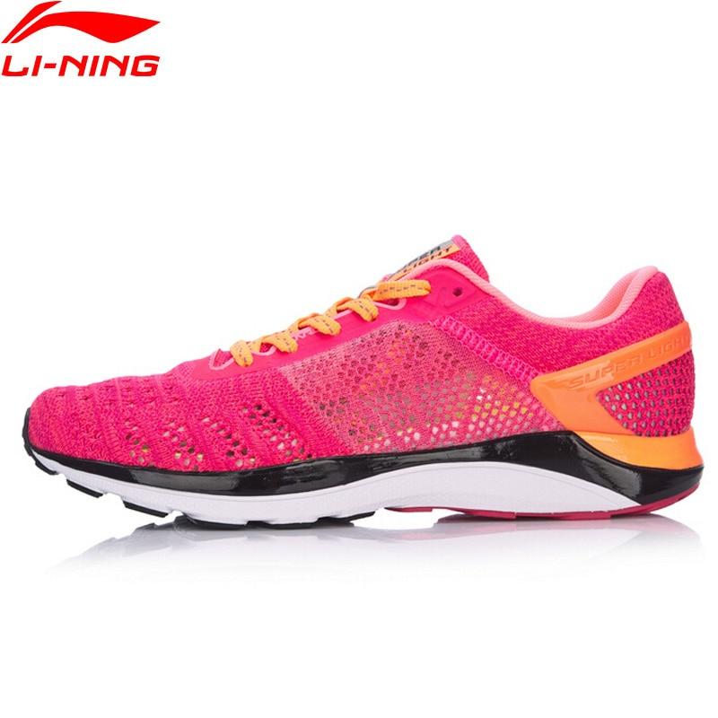 (Código de ruptura) li-ning mujeres SUPER ligero XIV zapatos para correr cojín zapatillas forro transpirable Li Ning zapatos deportivos ARBM028 XYP469