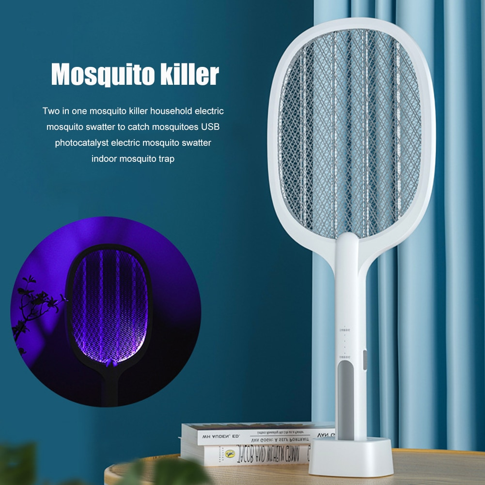 3000V Racket Insects Killer Stun Useful Electric Mosquito Swatter Insect Racket Zapper UV Light Home Fly Bug Kill