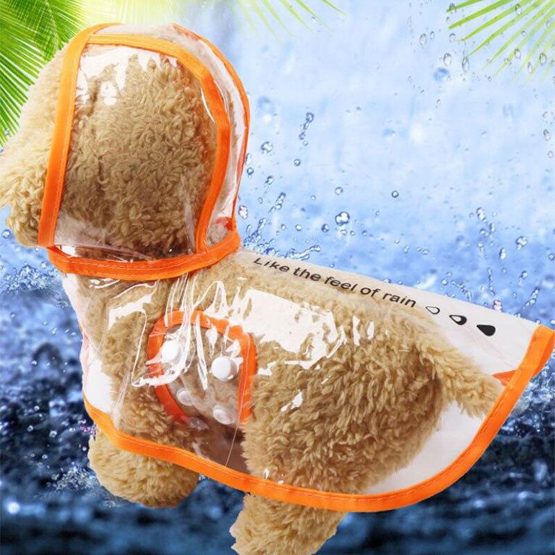 Impermeable para perro mascota transparente al aire libre con capucha impermeable de dos pies ropa de lluvia para cachorros capa impermeable para mascotas Yorkshire Terrier