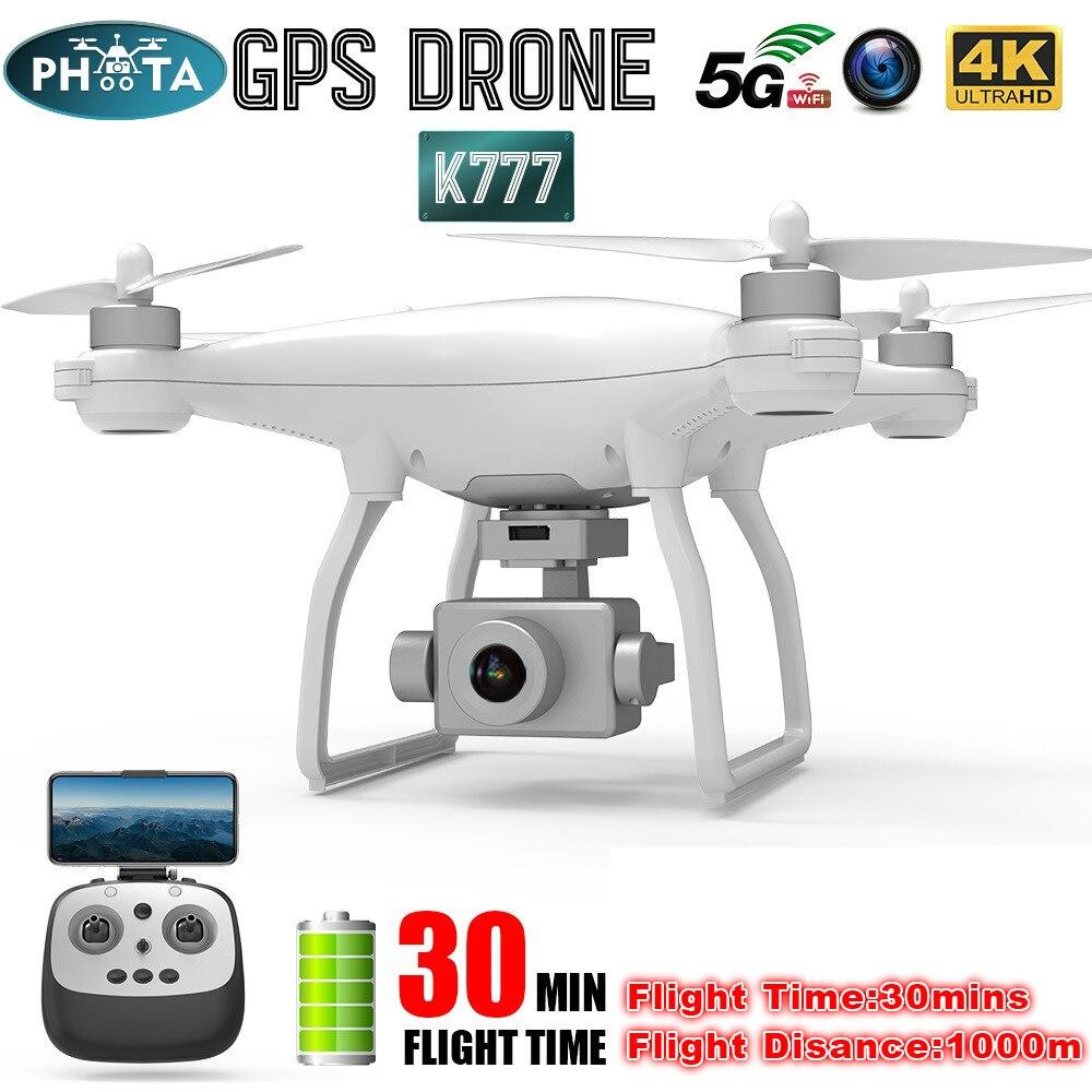 K777 GPS Drone HD 4K Cámara cardán estabilizador Drones profesional RC Quadcopter 5G WiFi FPV Motor sin escobillas de 30 minutos de vuelo del X35