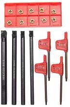 4 pièces SCLCR06 S06K/S07K/S08K/S10K porte-outil tournant barre dalésage + 10 pièces CCMT060204 outils de tournage internes
