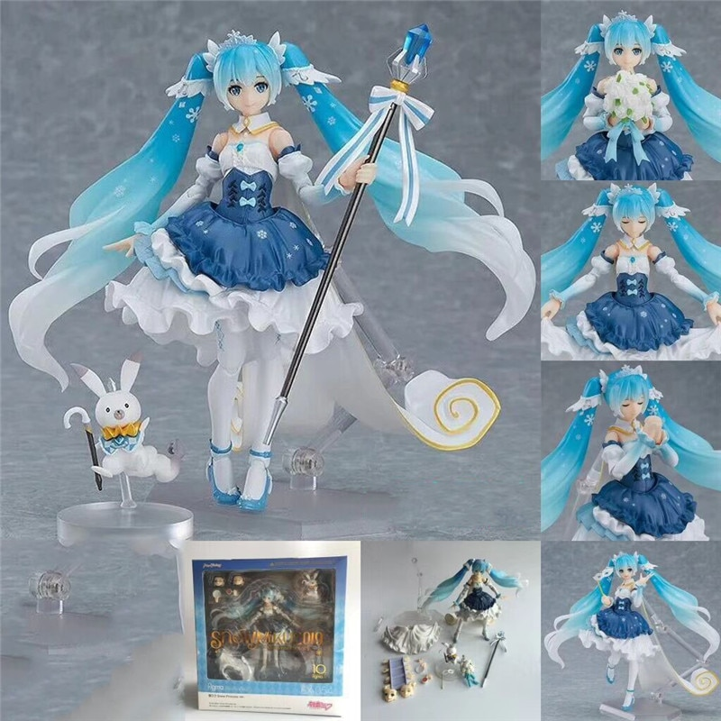 w billings the new england psalm singer Anime The Tenth Anniversary Snow Princess Anime Figure Models Japanese Virtual Singer Dolls Shf Periphery Toys New