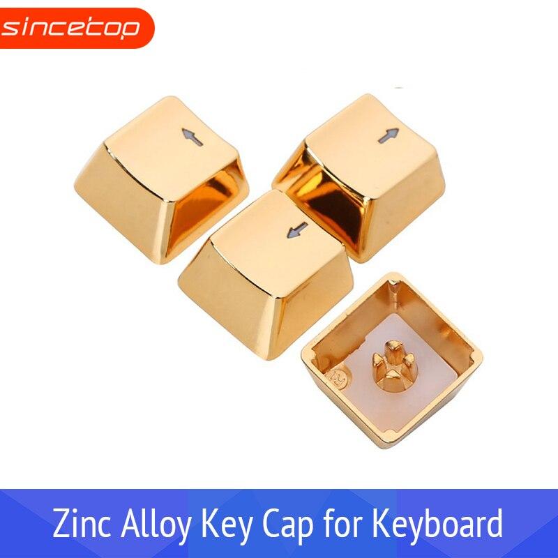 Llaveros de Metal con flecha dorada WASD, juego de teclas para interruptores Cherry MX y transmisión de luz de teclas de teclado mecánico