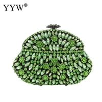 green designer clutch luxury faux stone and crystals evening purses clutch evening bags wedding party dress purse ladies clutch