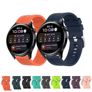 For Huawei Watch 3/3 Pro/GT 2 Strap 22mm Silicone Sport Bracelet For Samsung Galaxy Watch 3 45mm 46mm Gear S3 Frontier Watchband