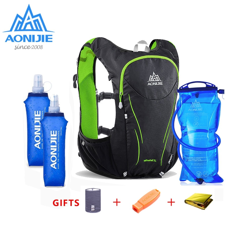 AONIJIE 5L  Backpack Outdoor Sports Women Men Marathon Hydration Vest Pack C928 For Cycling Hiking Water Bag