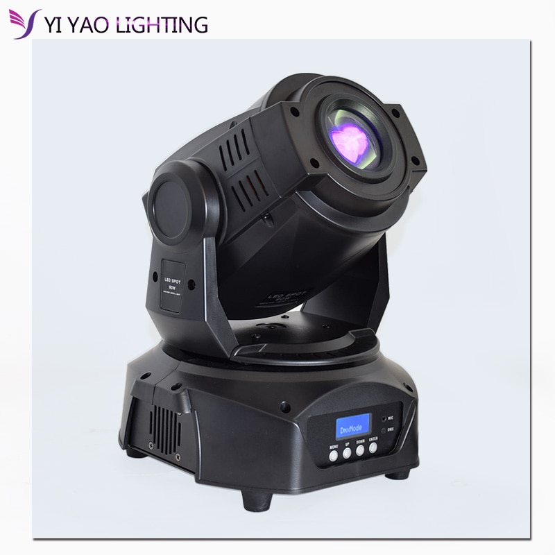 High Brightness 90W Spot Moving Head Light Led GOBO Stage Lighting Disco With 3 Face Prism