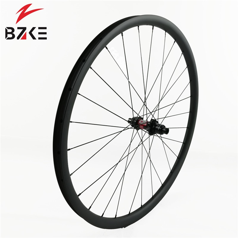 Juego de ruedas de carbono BZKE de 30mm de ancho con eje izquierdo 2,0 O.L.D. Ruedas de bicicleta de montaña de carbono de 74mm Juego de ruedas de carbono para xc