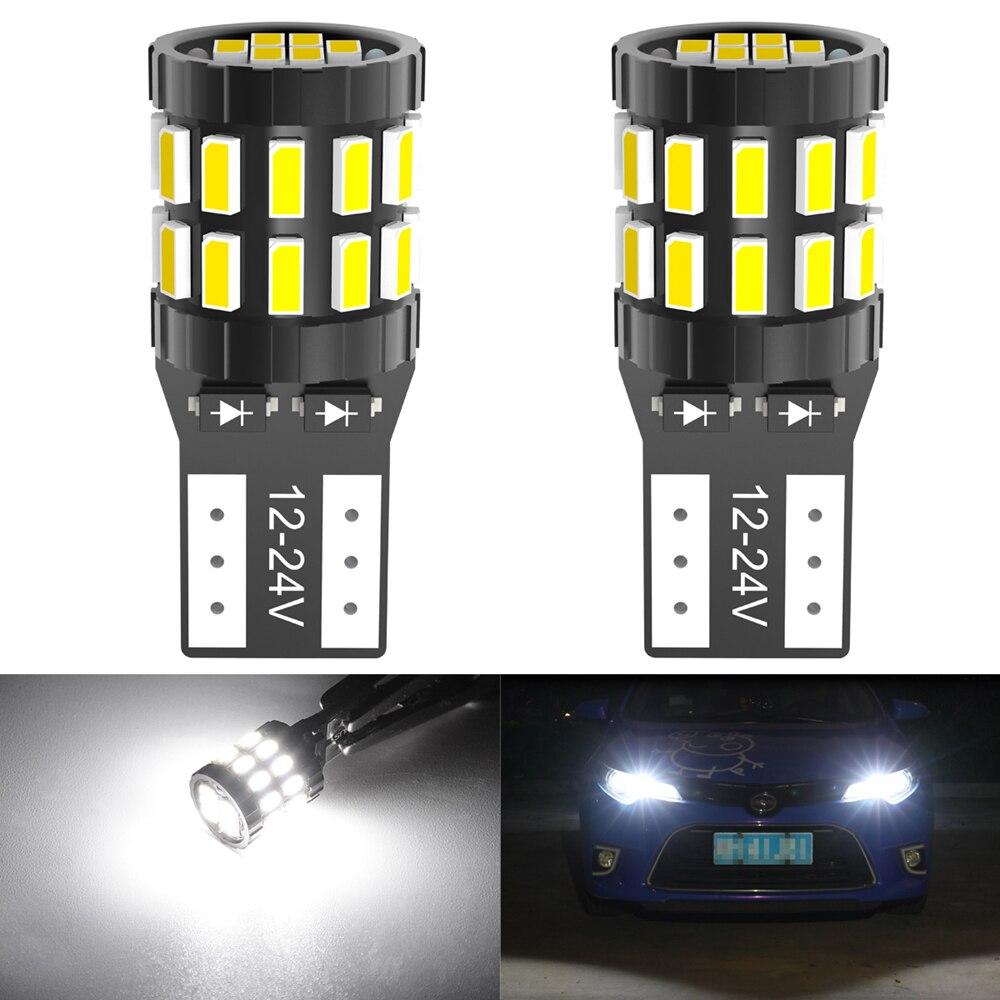 2x T10 LED 168 2825 bombilla Canbus para Toyota C-HR Corolla Rav4 Yaris Avensis Camry CHR luz Interior de coche placa de matrícula