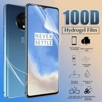 front back screen protectors for oneplus 8 8t 7 7t pro 6 6t silicone hydrogel sticker film for one plus nord 100 10