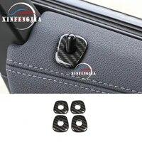 for bmw x3 g01 18 19 x4 g02 2019 4x carbon fiber color door lock pins pin cover trim