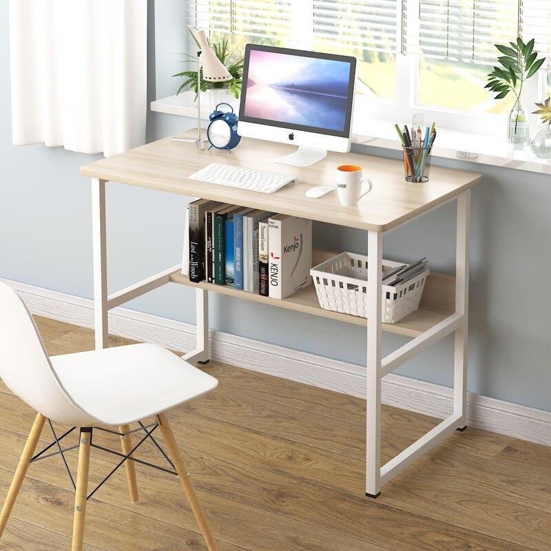 كمبيوتر مكتب سطح المكتب الجدول رف الكتب مزيج بسيط المنزل طالب طاولة كتابة بسيطة السرير مكتب كسول الجدول Foldout