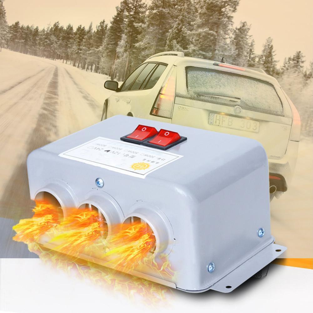 500 W/800 W عالية الطاقة سيارة الشتاء الزجاج الضباب إزالة الجليد محرك التدفئة آلة 12 V/24 V الهواء الدافئ منفاخ ل الداخلية ذوبان