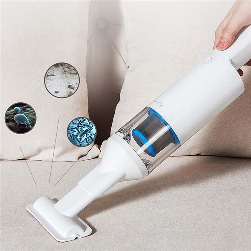 Coclean 120 w 16800 pa sem fio handheld aspirador de pó poderoso forte sucção profunda ácaro remoção para casa e carro