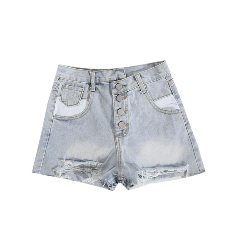 Kywommnz Women Denim Shorts Fashion Irregular Ripped High Waist Old Tassels Are Super Short Hot Pants summer 2021 E3063