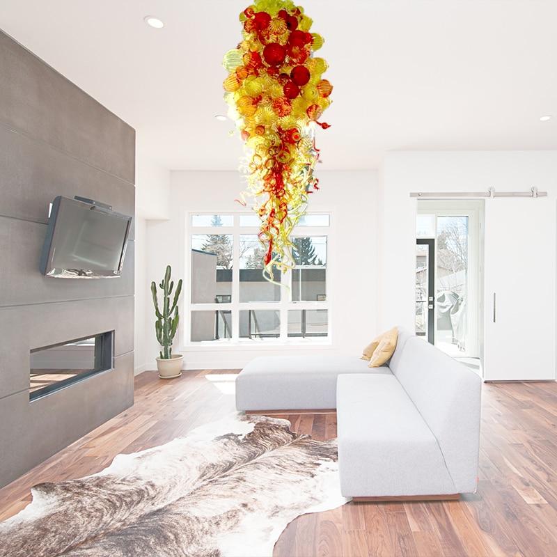 110v 240v lampadas led forma de bolha chihuly estilo de vidro soprado luz pingente moderno
