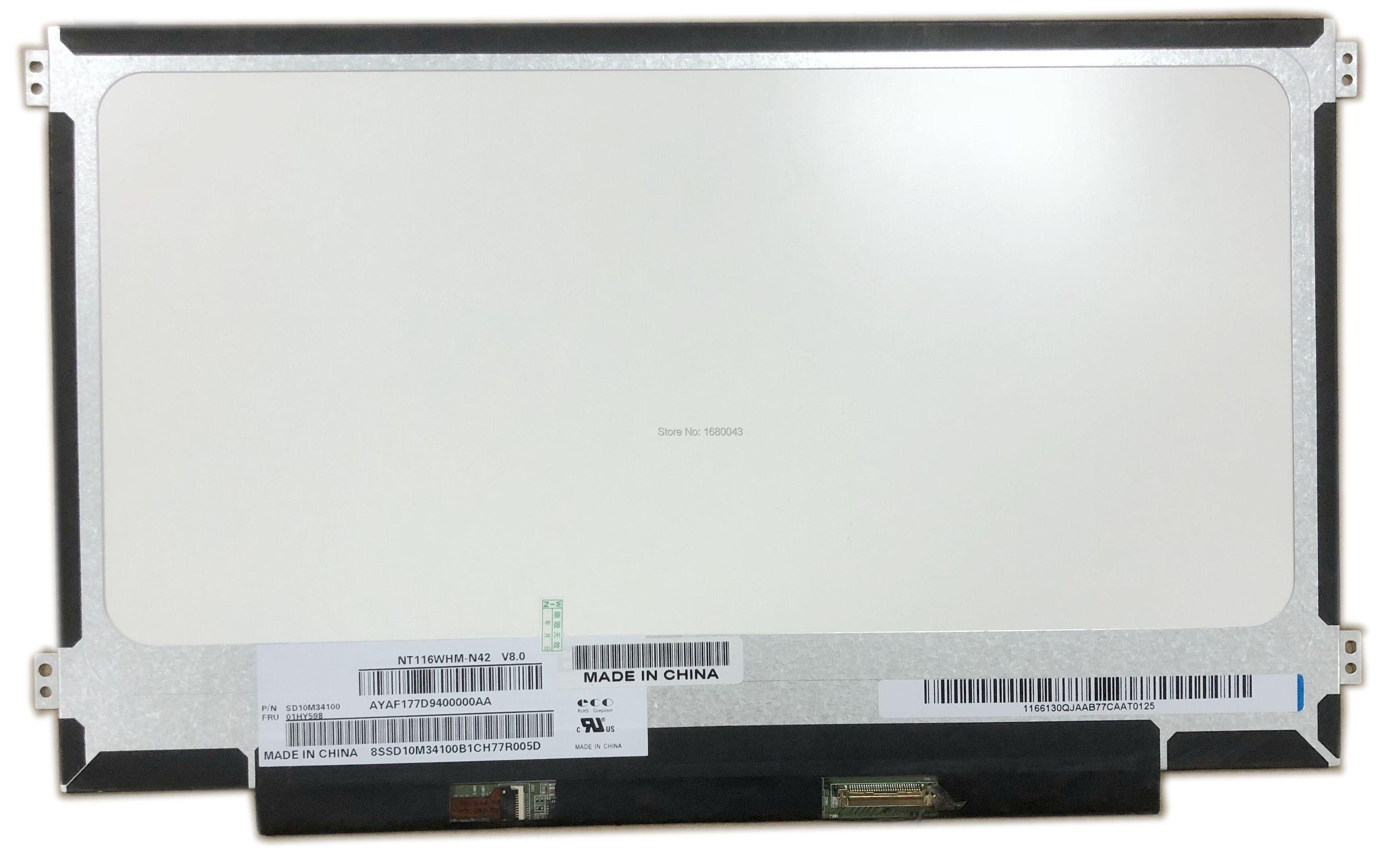NT116WHM-N42 N12 صالح B116XTN02.3 B116XTN02.1 N116BGE-EA1 N116BGE-EB2 N116BGE-EA2 M116NWR1 R7 LED LCD شاشة لوحة 30PIN eDP