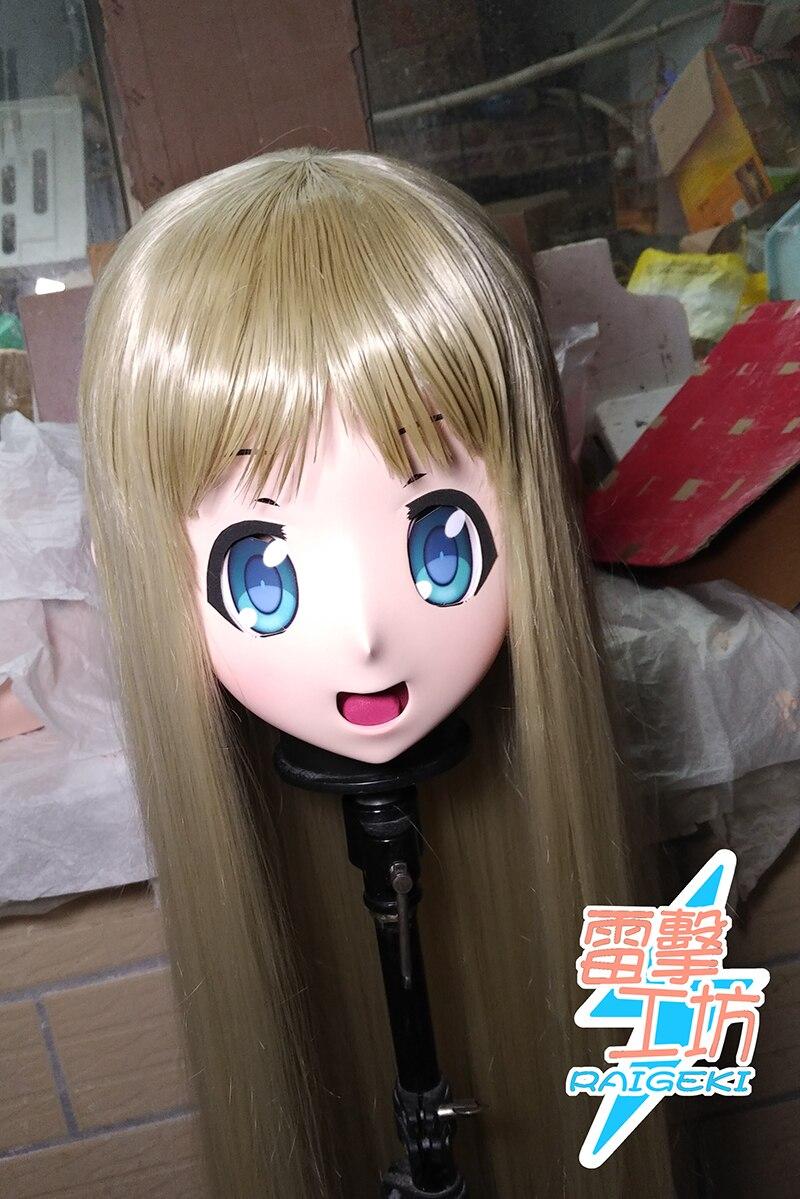 (RAIGEKI MAKS 30) الراتنج 3/4 رأس أنثى/فتاة Kigurumi أنيمي تأثيري أقنعة Crossdress اليابان دور لوليتا كروسدرسر دمية BJD كوس