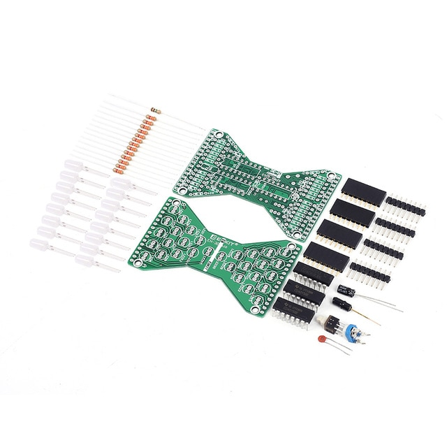 DC 5V Electronic Hourglass LED DIY Kit Double Layer PCB Board Components Soldering Practice Suite 4