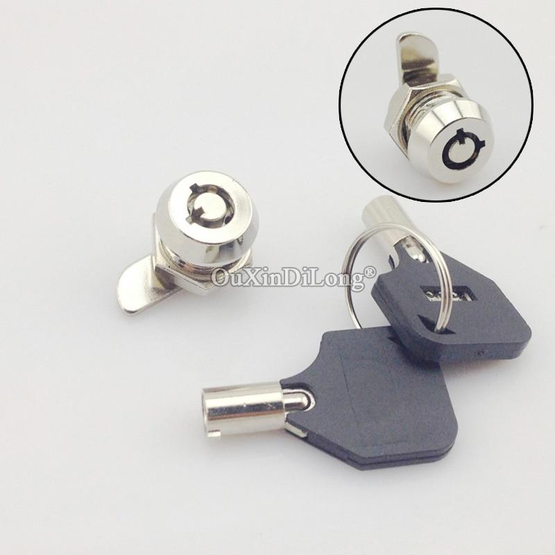 العلامة التجارية الجديدة 10 قطعة سبائك الزنك كام أقفال صندوق كهربائي خزانة معدنية صندوق بريد حافظة ملفات أقفال Keyed على حد سواء