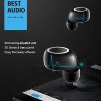 tws fingerprint touch bluetooth earphones wireless bluetooth earbuds headset stereo handsfree sports ear phone with mic
