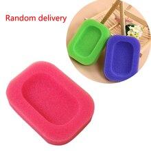 1 unid/set plato de jabón de esponja de Color caramelo soporte de jabón de baño Color aleatorio
