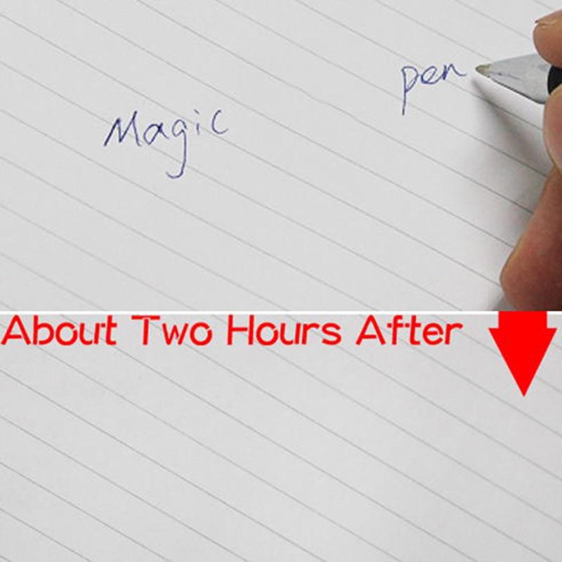 magic pen invisible ink slowly disappear automatically disappear practicing pen transparent pp pen blue ink joke toys joke props Transparent Magic Pen Invisible Ink Slowly Disappear Automatically Disappear Practicing Pp Pen Blue Ink Joke Toys Joke Props