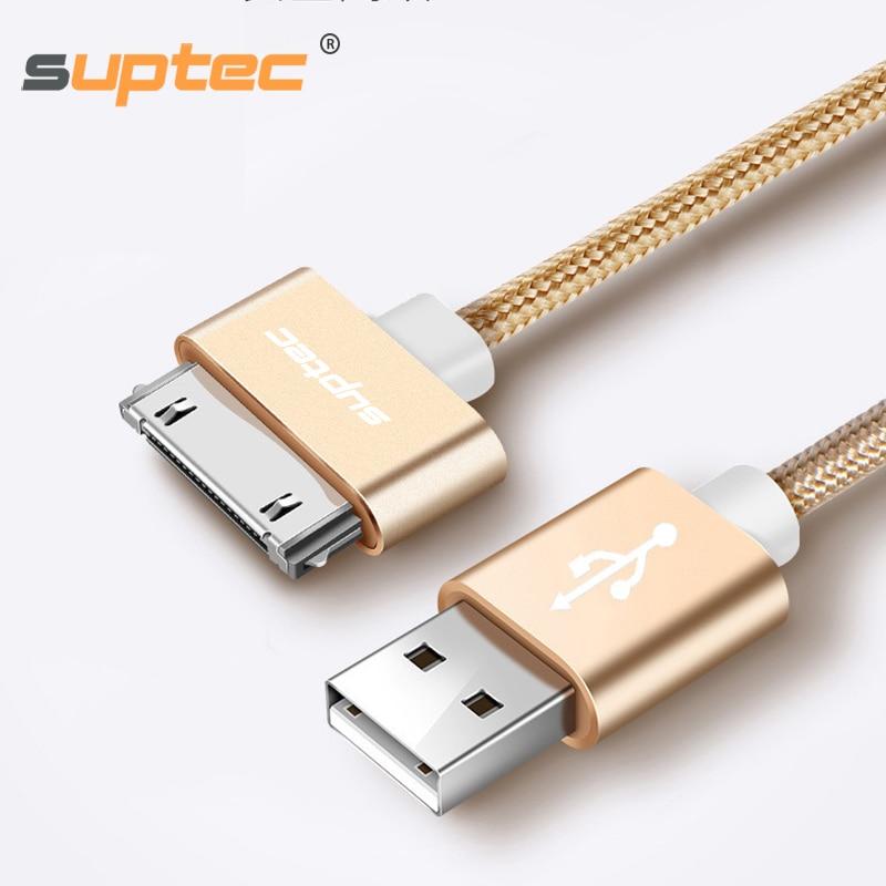 Cable USB SUPTEC para iPhone 4 s 4S 3GS iPad 2 3 iPod nano Touch carga rápida 30 Pin adaptador de carga Original Cable de datos del cargador