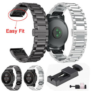 Stainless Steel Metal Watch Band Strap For Garmin Fenix 5 Quick Fit Watchband For Forerunner 935 Replacement Wristband Bracelet