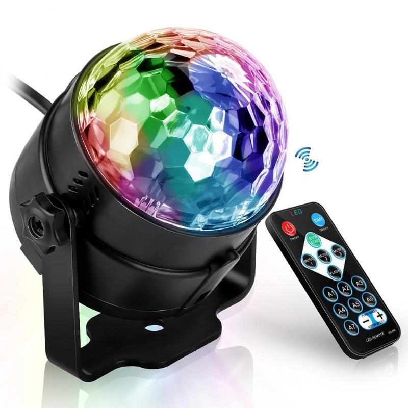Proyector láser, Bola de discoteca, luces de fiesta activadas con sonido Lumiere, luz estroboscópica Led para casa, KTV, Navidad, entrega rápida