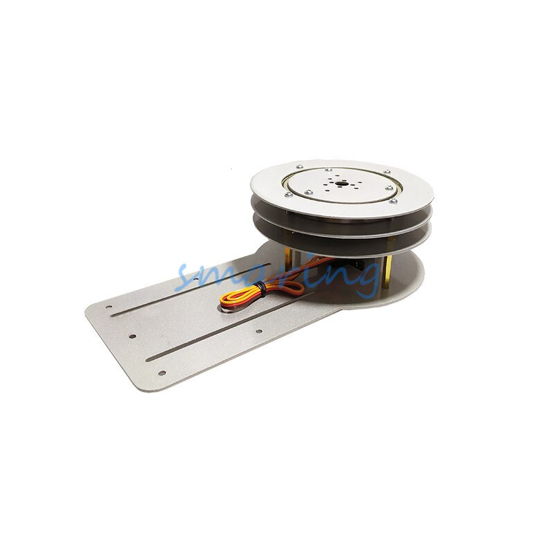 1 conjunto de 180/270 graus 1-dof base robô servo câmera ptz fotografia turntable chassis montagem kit
