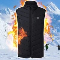 heated vest thermal cloth outdoor electric heated vest usb heating vest winter thermal cloth feather hot sale camping hiking