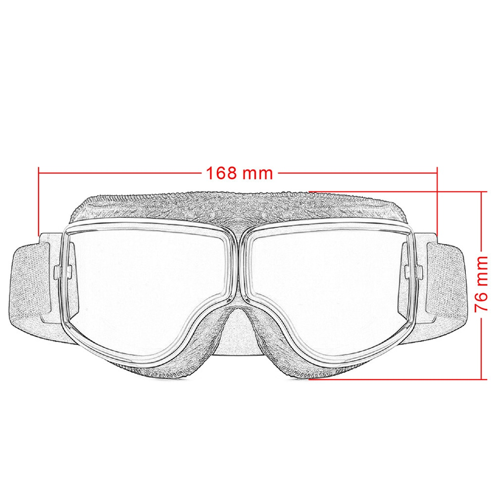 Motorcycle Vintage Goggles Pilot Scooter Outdoor Dirt Bike Riding Sunglasses Retro Motocross Glasses For Harley Helmet enlarge