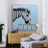 pure hand painted oil painting decorative painting personalized horse paintings study childrens room mural elderly housing squa