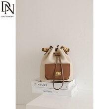 DN Fashion Mini Panelled Tote Bags Women's Top Handle Bag for Women Design Bucket Bag 2021 Fashion
