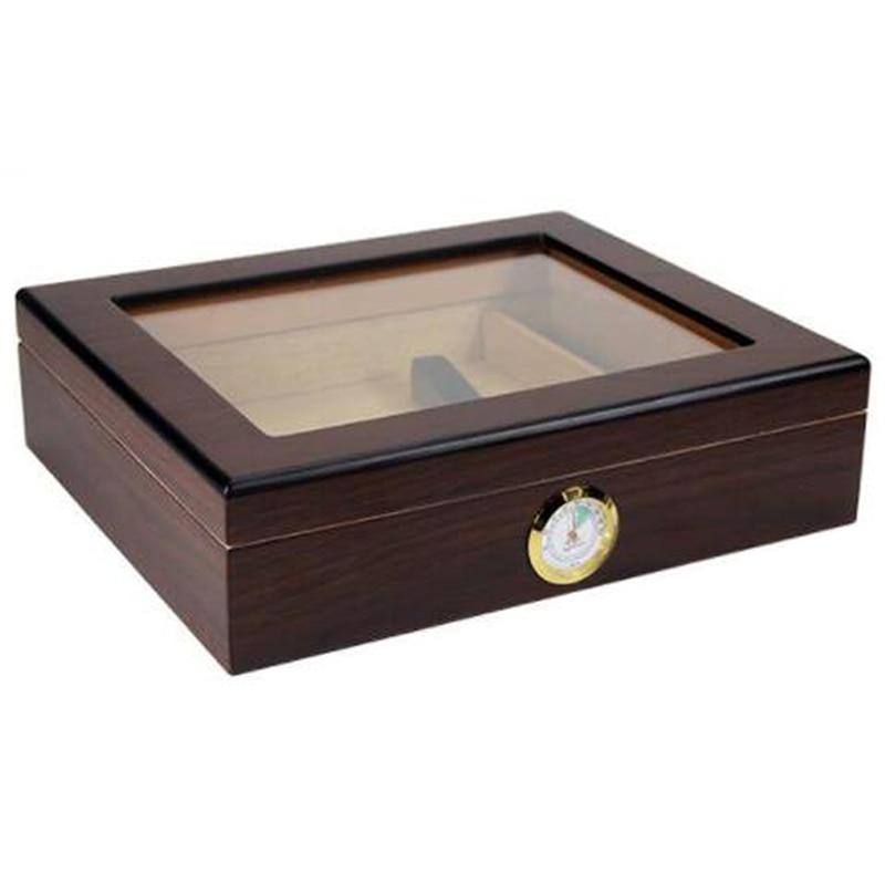 Genuine Cedar Wood Lined Tobacco Storage Cigar Cigarette Tobacco Storage Cabinet Humidor With Humidifier Hygrometer Portable