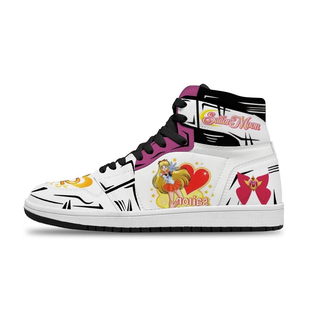 Hot Japanese Anime Cartoon Minako Aino Diy Printed Running Non-Slip Casual Shoes For Ladies Unisex trend sports shoes