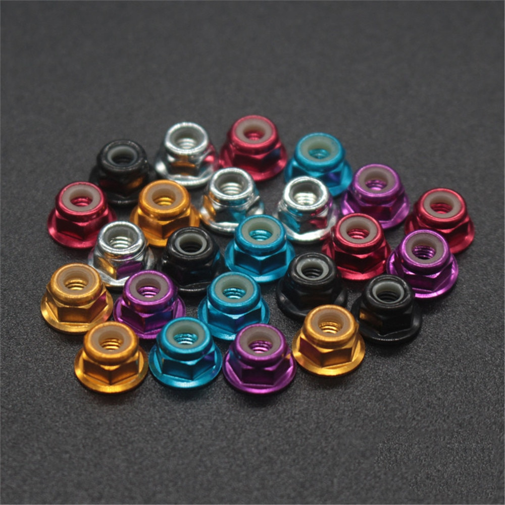 HSP 102048 122048 Aluminum Alloy Metal Nylon Nut M3 8p 02102 1/10 Upgrade Parts 94122 94123 94111 94108 94177 94106 94188 94166