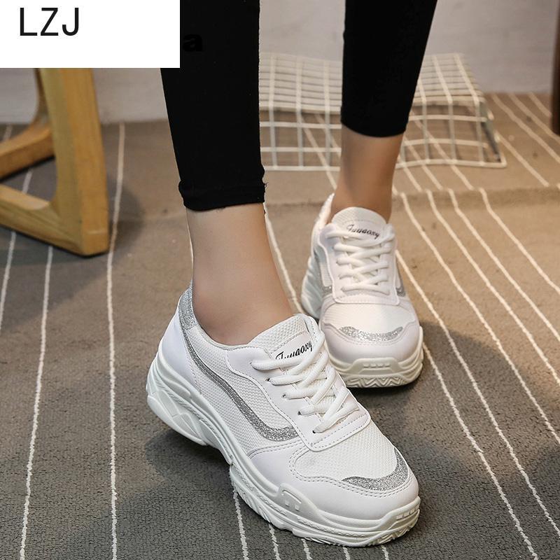 Zapatillas de deporte con plataforma para Mujer, zapatos informales con plataforma, color...