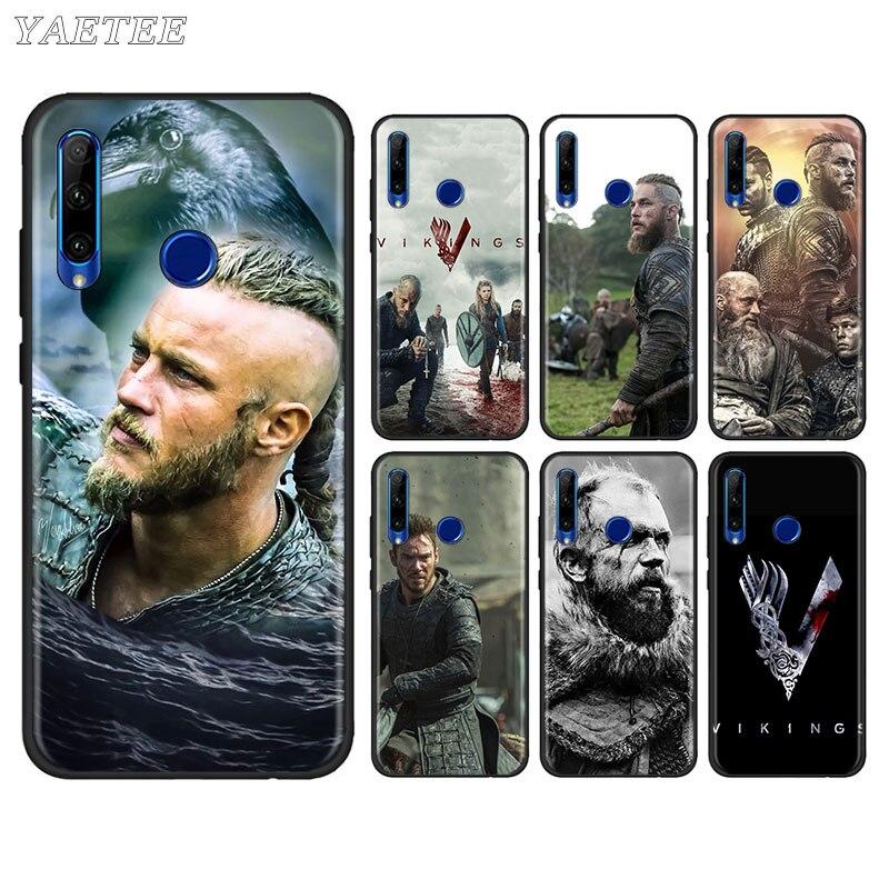 Carcasa de teléfono Serie Vikings para Huawei Honor 8X 9X 8A 9A 9S 9C 10i 10 20 Lite 20S 20e 30 Pro + funda blanda de tpu negra