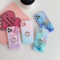 phone case apple marble pattern iphone12pro mobile phone case xsmax ring buckle bracket apple 11 protective cover