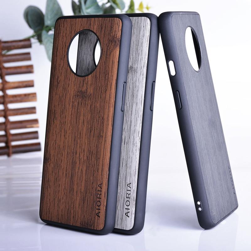 BambooLike caso Oneplus 7T Pro 8 Pro 6 6T buena tocar siento anti huella dactilar No sucio coque para Oneplus 7 pro
