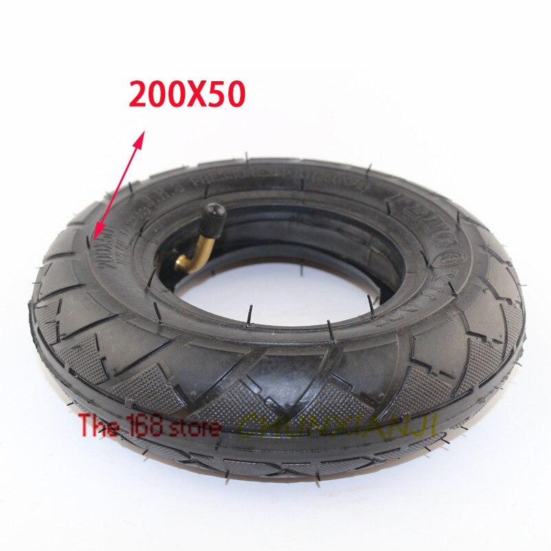 """Alto desempenho (8 """"x 2"""") 200x50 (8 Polegada) pneu para scooter elétrico, scooter elétrico (tubo interno incluído) roda de cadeira de rodas"""