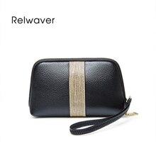 Elegant cowhide clutch bag fashion patchwork wrist bag mini genuine leather party shell bag small ce