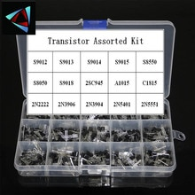 300 adet 15 Value x 20 adet transistör TO-92 çeşitler kutusu kiti transistörler 2N2222 2N3904 2N3906 C945 S8050 s8550 S9014 S9013 9018