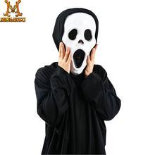Molezu halloween déguisement fantôme crâne fantôme Robe déguisement de fête masque horreur carnaval Cosplay accessoires de fête