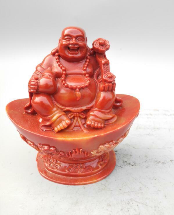 Китайский Шушан камень богатство статуи Будды Майтреи