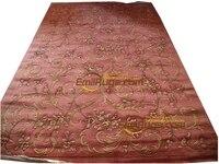 plush rug wool french carpet About Hand-knotted Thick Plush Savonnerie Rug 6.56' X 9.84'carpet livingroom mat3d carpet3d carpet