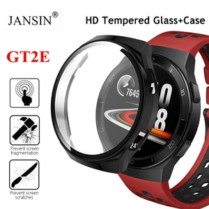 Tempered Glass Screen Protector For Huawei Watch Gt2e PC Case For Huawei Watch Gt 2E Glass Case Cover Bumper Protective Shell